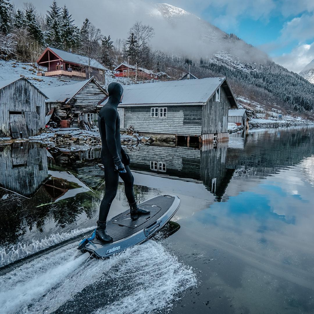 Exploring the icy fjords of Norway.